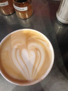 from a coffee shop the day after she died...love is everywhere, if you look for it.